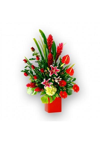 Arreglo con flores finas