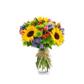 Florero colorido