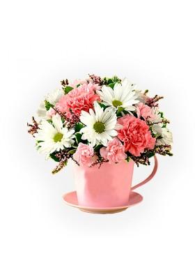 Flores en tazita
