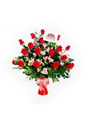 Copón de 24 rosas