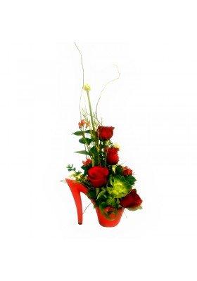 Zapato con flores