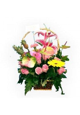 Canasta de flores finas