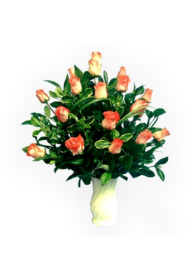 Florero de 24 rosas