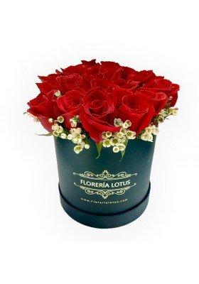 Caja de 24 rosas