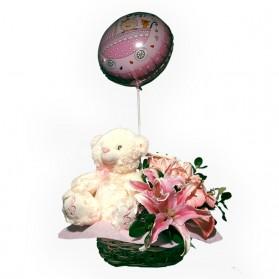 Peluche y rosas para niña