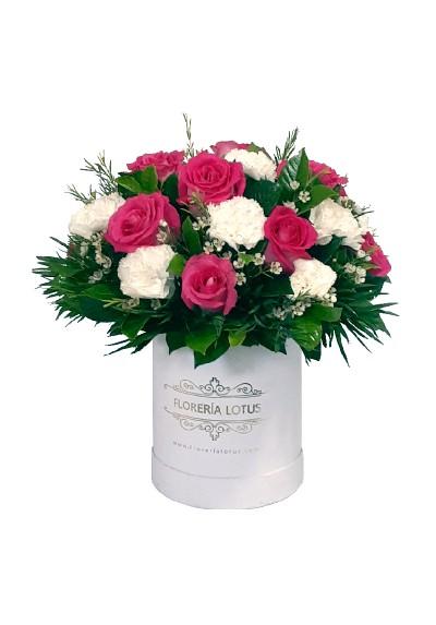 Box mediano de rosas