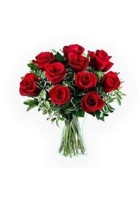 Florero de 12 rosas