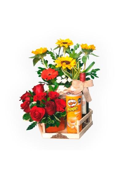 Rosas y girasoles para ti