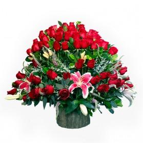 Box grande de 48 rosas